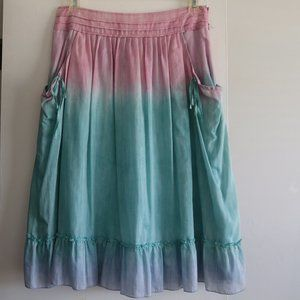 Cynthia Steffe Silk & Cotton A Line Pockets Skirt